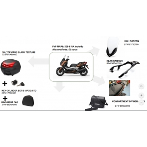 PACK ACCESORIOS URBAN PACK XMAX 125/300/400 B74FBK000000