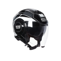 CASCO AGV JET FLUID MULTI CHICAGO SOHO BLANCO-NEGRO 214811A2G0020