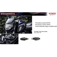 Pack Accesorios originales Yamaha MT-07 2018 MT07SMOKED18