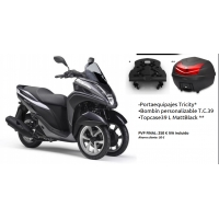 Pack Accesorios originales Yamaha Tricity Top Case 39L 2018