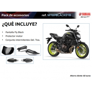 PACK ACCESORIOS ORIGINALES YAMAHA MT-07 MT07BLACK018