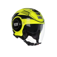 CASCO AGV JET FLUID MULTI SOHO YELLOW FL/BLACK 214811A2G0021